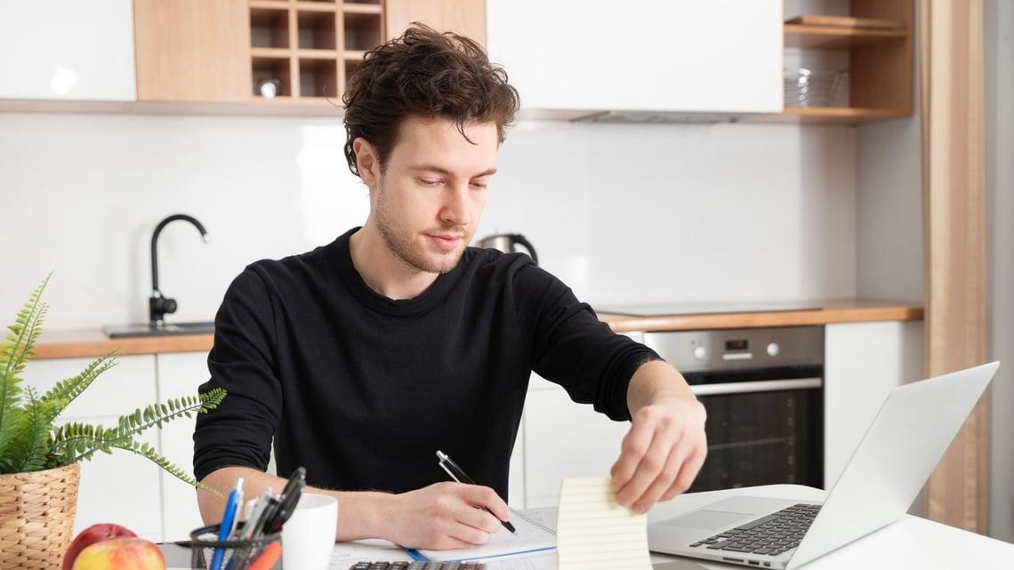 Man Remote Working