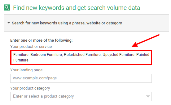 Furniture Related Keywords